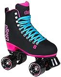 #9: Chaya Melrose Black & Pink Quad Indoor/Outdoor Roller Skates