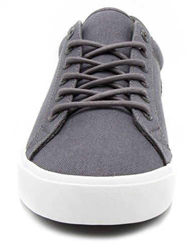 London Fog Mens Bayswater Canvas Sneaker Grey YXgja