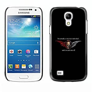 """For Samsung Galaxy S4 Mini (NOT for regular S4) Case , Alas Negro Devil Horns Ángel Dualidad"""" - Diseño Patrón Teléfono Caso Cubierta Case Bumper Duro Protección Case Cover Funda"""