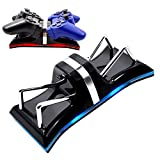AZFUNN PS3 Controller Charging Station, Dual Charging Dock Stand with Surrounded LED Indication Lights for Sony PlayStation PS3 Controller, Black
