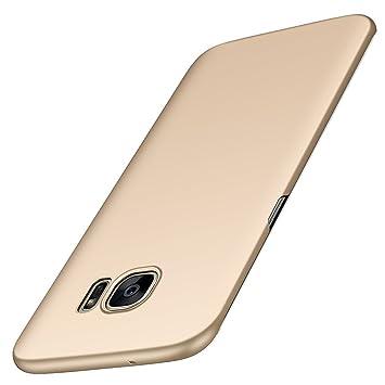 anccer Funda Samsung Galaxy S7 Edge [Serie Colorida] [Ultra-Delgado] [Ligera] Anti-rasguños Estuche para Carcasa Samsung Galaxy S7 Edge (Oro Liso): ...