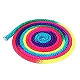 Cuerda de Gimnasia, Color del Arco Iris Gimnasia Rítmica Cuerda Competencia Deportiva Cuerda de Entrenamiento Artístico, Cuerda de Batalla para Fuerza Corporal, Deporte, Ejercicio, Fitness