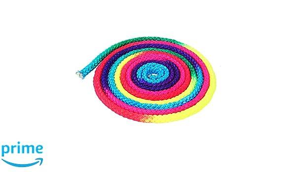 Alomejor Cuerda de Gimnasia Color del Arco Iris Cuerda de Gimnasia r/ítmica S/ólida Competencia Artes Cuerda de Entrenamiento