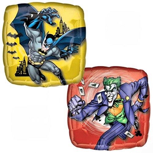 Batman Square Foil Metallic 18 Inch Balloon - Pre-Packaged Foil Packaged Balloon
