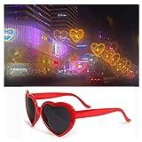 BSJJY Heart Shaped Love Effects Glasses - See