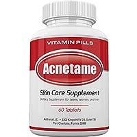 Acnetame: suplementos vitamínicos para el tratamiento del acné, 60 píldoras naturales