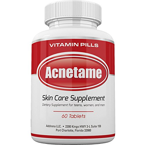 Acnetame- Vitamin Supplements for Acne Treatment, 60 Natural Pills (Best Makeup For Adults With Acne)