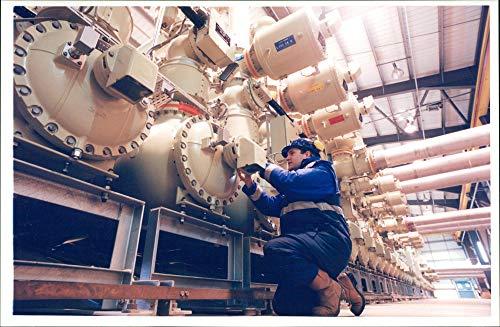 Vintage photo of Enron:New power station.