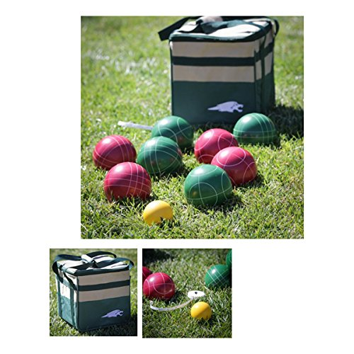 Lion Sports 100 MM Backyard Resin Bocce Set in PVC Carry Bag by Lion Sports