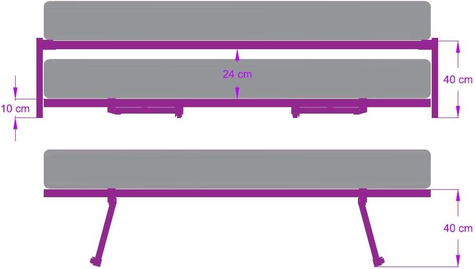 Argomaniz Cuens asesora en Descanso Juego de Patas Cama Nido de 105 cm para adaptar somier de 40 * 30