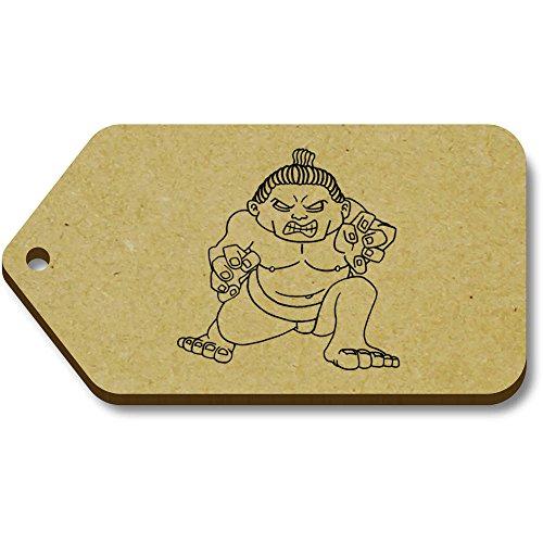 X 34mm 'Sumo wrestler' bagaglio 10 tg00000276 regalo Azeeda Tag 66mm XA7wq
