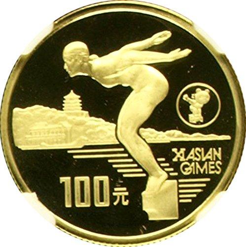 1990 Asian Games - 1990 CN 1990 China Gold 100 Yuan Olympic Asian Games Beij coin PF 69 Ultra Cameo NGC