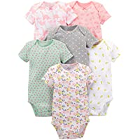 Simple Joys by Carter's Girls' 3-Pack Romper, Sunsuit and Dress