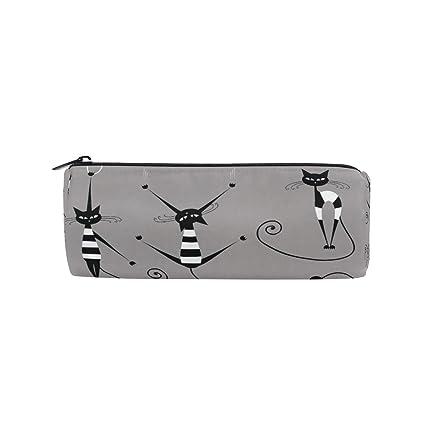 FAJRO Yoga - Estuche para lápices, diseño de gato, color ...