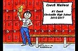 Personalized Friendly Folks Cartoon Side Slide Frame Gift: Coach - Female Great for school, professional sports league, weekend coach