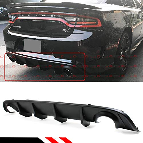 - Fits for 2015-2019 Dodge Charger SRT STX Hellcat Scat R/T Re-Design New Shark Fin Rear Bumper Diffuser Valance