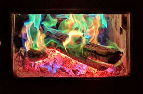 Mystical Fire Flame Colorant Vibrant Long-Lasting Pulsating Flame Color Changer for Indoor or Outdoor Use 0.882 oz Packets 25- Count Box