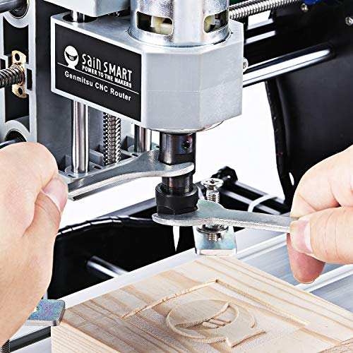Genmitsu CNC 3018-PRO Router Kit GRBL Control 3 Axis Plastic Acrylic PCB PVC Wood Carving Milling Engraving Machine, XYZ Working Area 300x180x45mm by Genmitsu (Image #2)