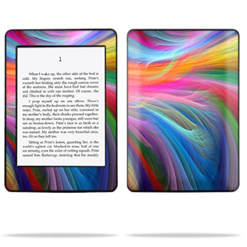 MightySkins Protective Skin Decal Cover for Amazon Kindle Paperwhite (1st generation) wrap sticker skins -Rainbow Waves