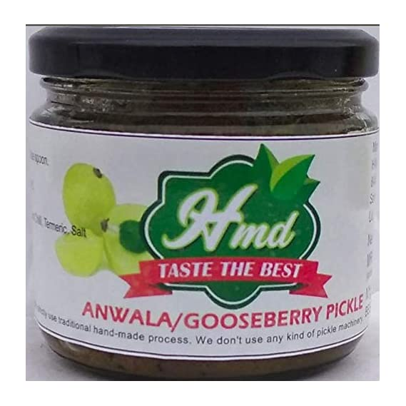 HMD Gooseberry Anwala Pickle (300 Grams, Pure Vegetarian, Pure Organic, FSSAI Certified, Long Durable & Made with 100