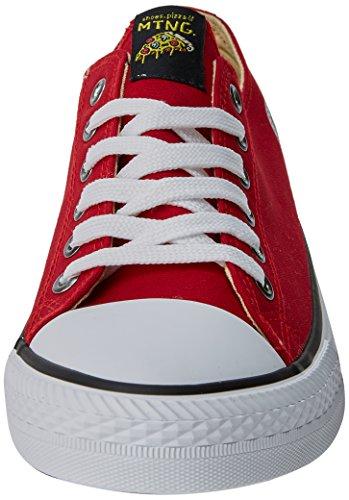 da Scarpe Fino Rosso Ginnastica Rojo Canvas Uomo EMI MTNG Basse 5ZHxqwBEn8