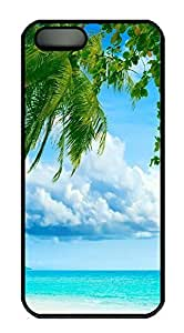 Case For Iphone 6 Plus 5.5 Inch Cover Tropical Paradise Beach And Palm Tree PC Custom Case For Iphone 6 Plus 5.5 Inch Cover Cover Black