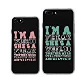 iPhone 7+7Plus Couple Case-TTOTT 2x Floral Weirdo Freak - Best Reviews Guide