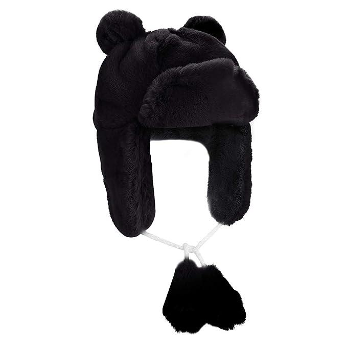0c40e90fb Boys Girls Winter Super Soft Warm Faux Rabbit Fur Ushanka Trapper Cap  Aviator Cap Bomber Hat