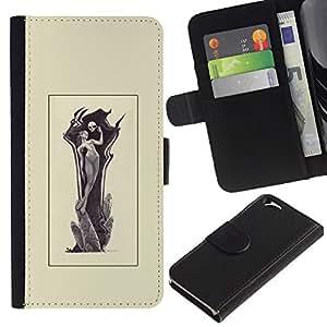 Stuss Case / Funda Carcasa PU de Cuero - Grim Reamper Mujer - Apple Iphone 6