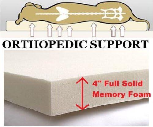 ehomegoods 54X47 X4 Sudan Brown Jumbo Orthopedic Memory Foam Pet Bed Mattress Pad for Large dog with 2 external covers Waterproof Internal cover