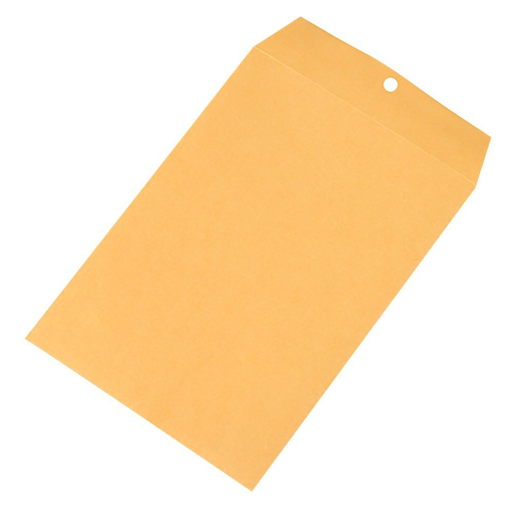 Brown 12 x 10 x 1 12 x 10 x 1 Pack of 100 RetailSource E121001KC100 Kraft Clasp Envelopes