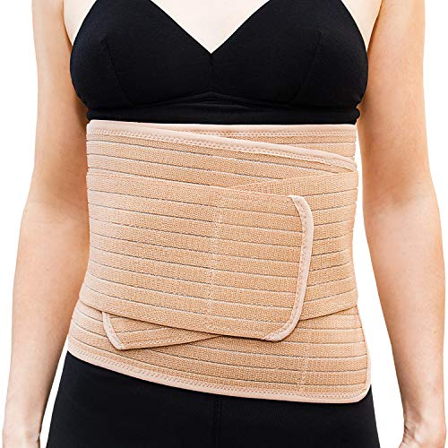 Emma + Ollie Postpartum Belly Wrap Belly Band Maternity Recovery Adjustable Abdominal Belt for Weight Loss and Postpartum - Sizes 2-12 ()
