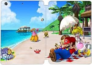 Cubierta de cuero y caja de la PC funda / soporte para funda de Apple iPad Mini 4 funda Con Magnetic reposo automático Función de despertador DIY por Super Mario Sunshine L7D3Ig8P7Lh