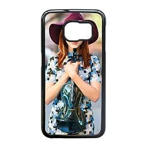 Caja del teléfono celular Funda Samsung Galaxy S6 Edge Funda Negro Lindsey Stirling C1D9OL
