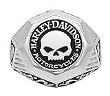 Harley-Davidson Mens Sculpted Willie G Skull Ring, Sterling Silver HDR0441 (12)