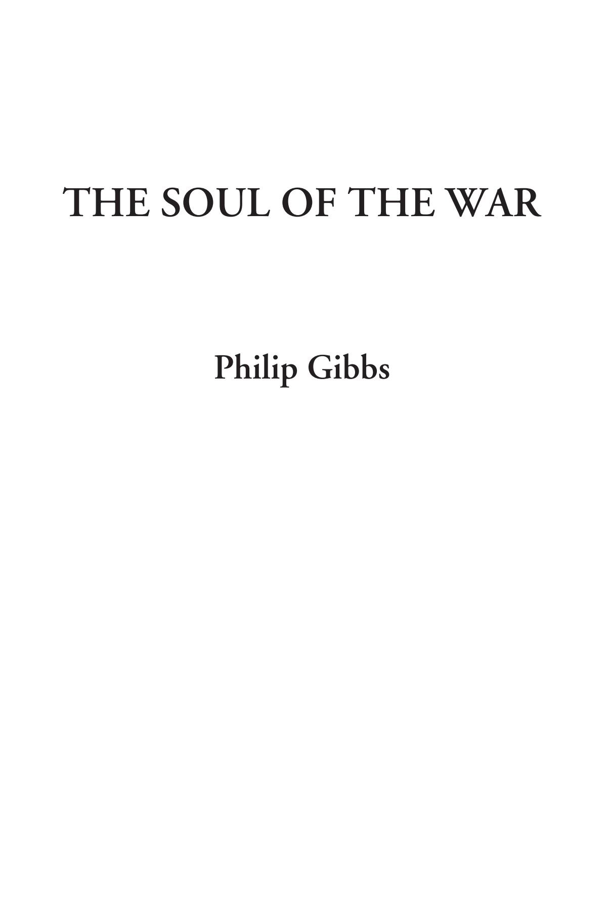 The Soul of the War PDF