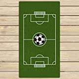nuohaoshangmao Custom Soccer Ground Towels,Soccer Ground Beach Bath Towels Bathroom Body Shower Towel Bath Wrap For Home,Outdoor and Travel Use Size 31x51 inches