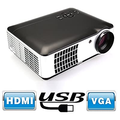 Flylinktech RD-806A 1080P HD Led Projector, Black