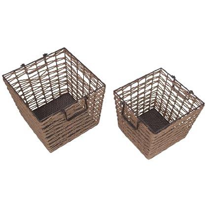 Image of Bread Baskets Privilege International 18628 2-Piece Square Baskets Set