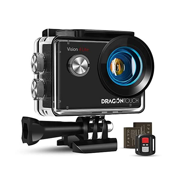 Dragon Touch Caméra Sport 4K Vision 4 Lite Ultra HD Wi-FI 20 MP avec Télécommande,Appareil Photo Stabilisateur EIS…