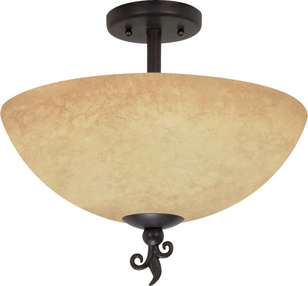 Nuvo 60 044 One Light Wall Sconce With Tuscan Suede Glass Old Bronze