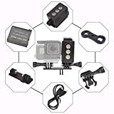Waterproof LED Light for GoPro, 30m Underwater lighting for Action Cameras, 3W 300LM with 3 Power Modes, USB Rechargeable
