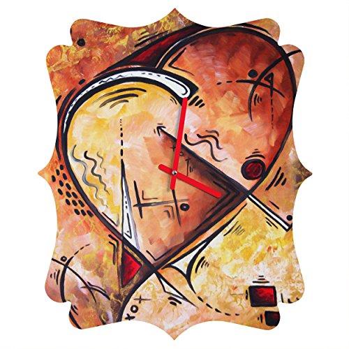 Deny Designs Madart Inc. Wild at Heart Quatrefoil Clock, Medium