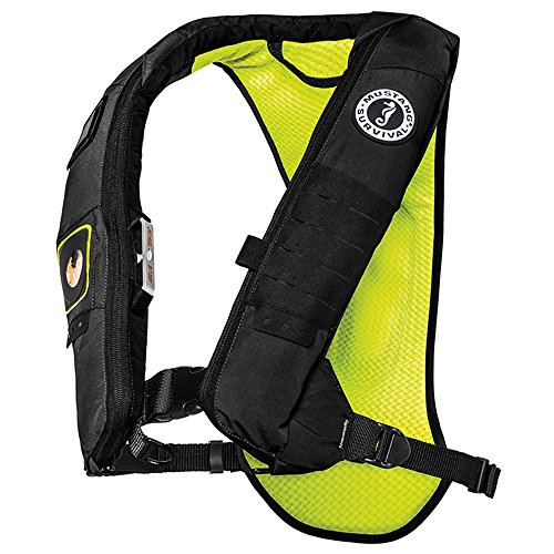 (Mustang Survival Corp Elite 28 Automatic Inflatable PFD, Black/Fluorescent Yellow Green)