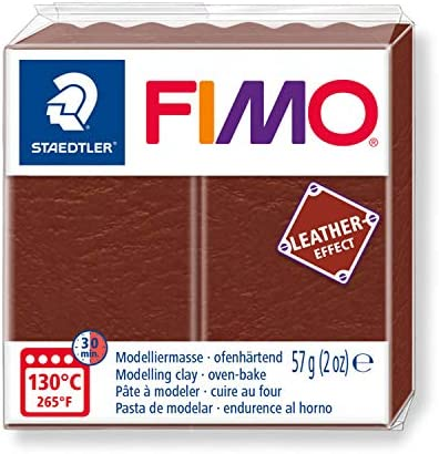 STAEDTLER Fimo Leather - Effect Oven-Hardening Modelling Clay Colour Nut 8010-779