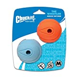 Chuckit! Medium The Whistler Ball 2.5 inch, 2-Pack (Colors Vary)