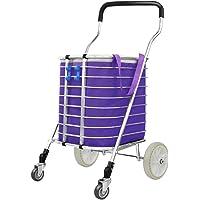 Shopping Trolleys, Shopping Basket Aluminum Alloy 4 Wheels Fold Shopping Cart Old People Trolley