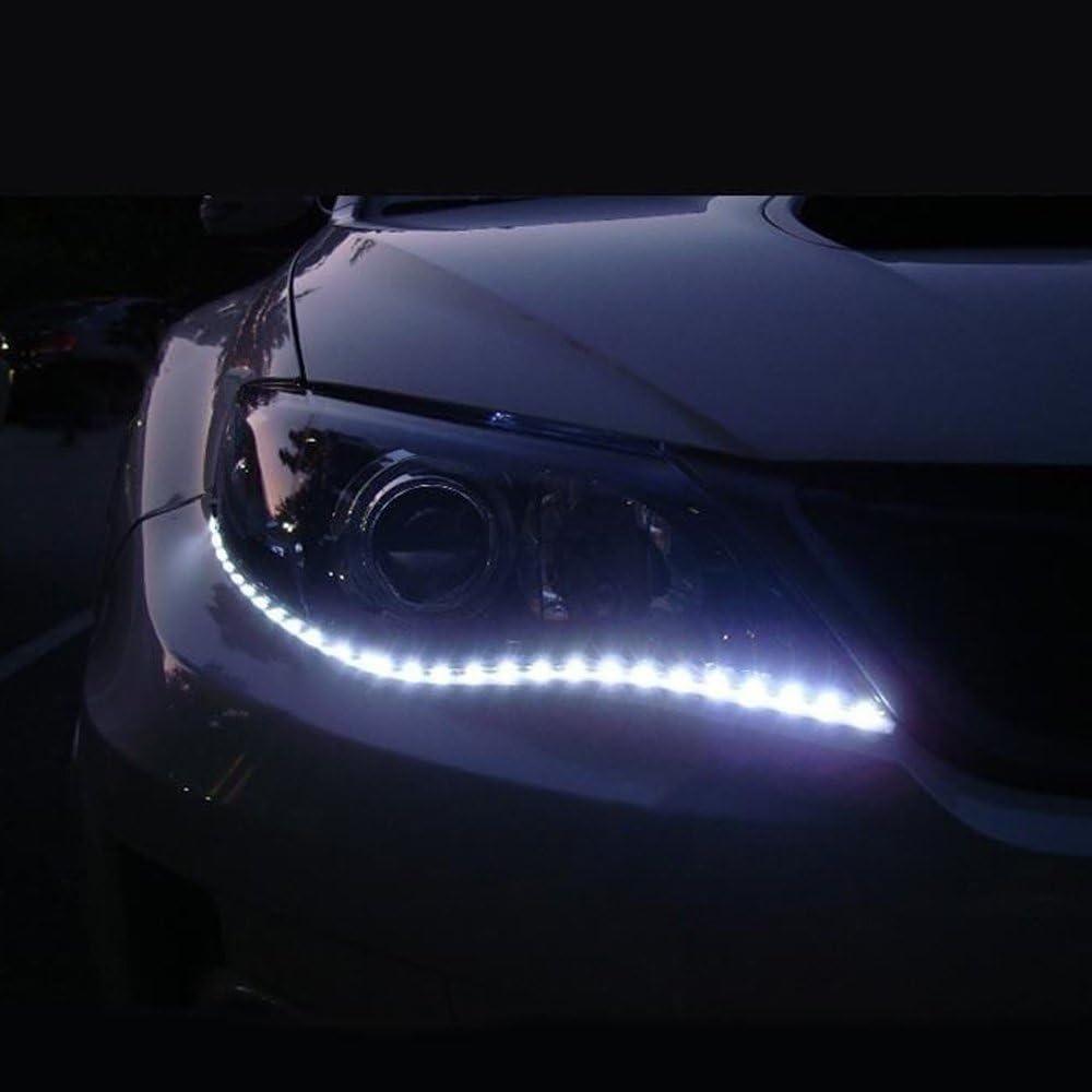 Mintice/™ 8 X bleu 12V 15 Led v/éhicule automobile calandre 30cm de voiture bande de lumi/ère underbody souple imperm/éable