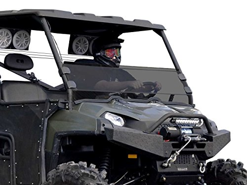2009 Polaris Ranger Windshield - SuperATV Heavy Duty Dark Tint Half Windshield for Polaris Ranger Fullsize XP 500/570/700/800/6x6/Crew/900 Diesel (See Fitment for Compatible Years) - Installs in 5 Minutes!