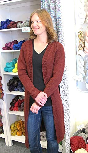Long Cardigan Knitting Pattern - Top Down Long Open Cardigan 1405 Knitting Pure & Simple Pattern